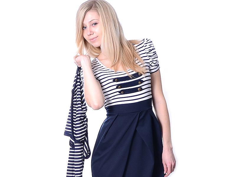 Платья в морском стиле