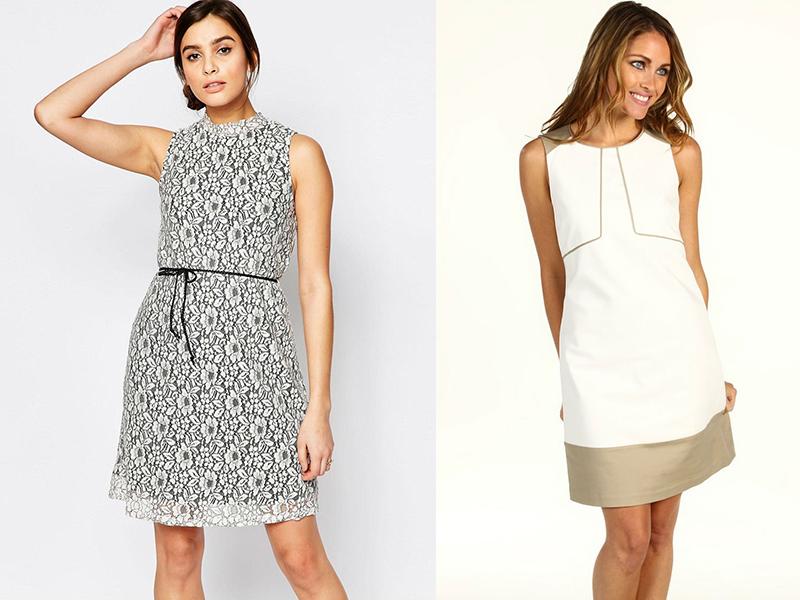 224db886609 Платье-футляр свободного кроя обычно моделируется без рукавов. Тонкий  поясок делает талию выразительной