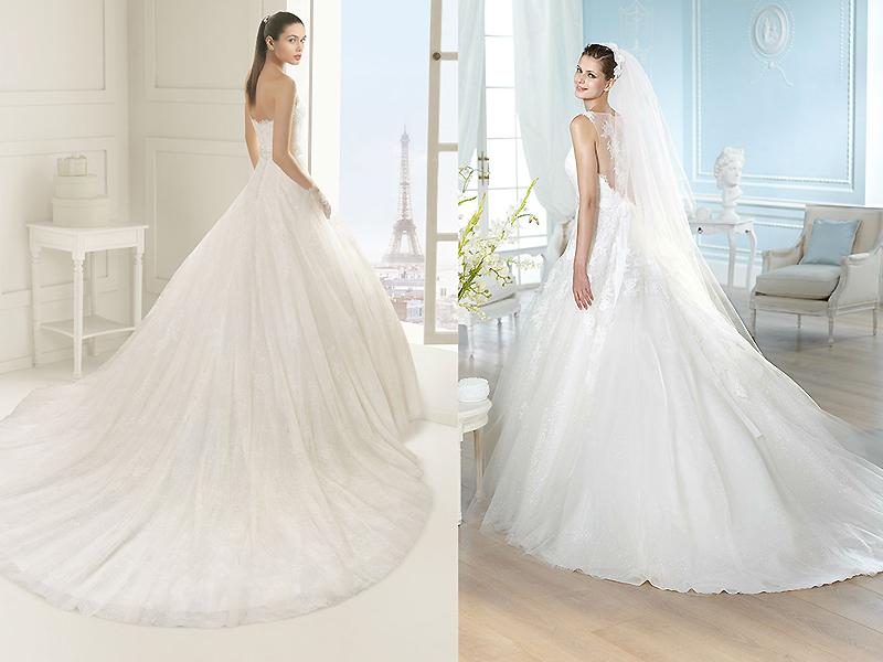 f8738b338e46c5f Пышные юбки и шлейф могут быть сшиты из одной и той же ткани, но может  использовать и комбинацию материалов, используя контрастные фактуры.