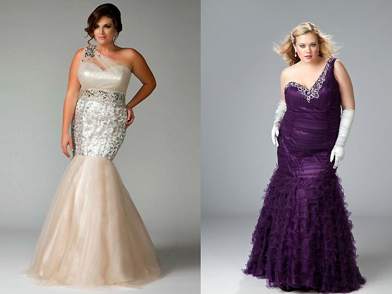 0c2b4062096 Выбираем платье на выпускной для полных девушек  фасон