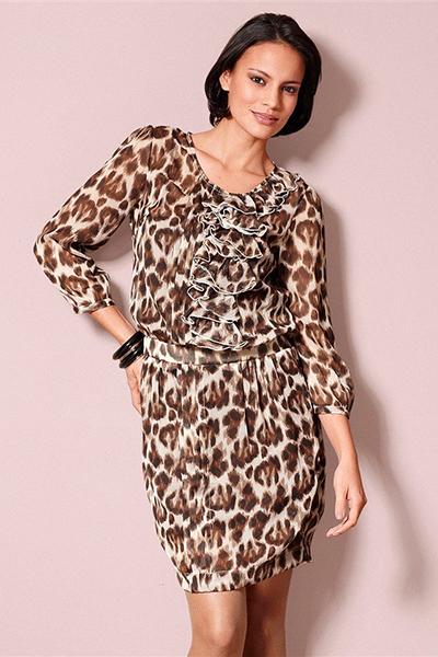 4df4f9b750459bd Стильное леопардовое платье – изюминка вашего гардероба | Мода от Кутюр.Ru