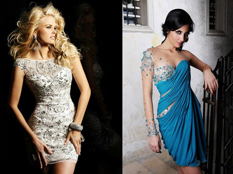 Вечернее платье в камнях