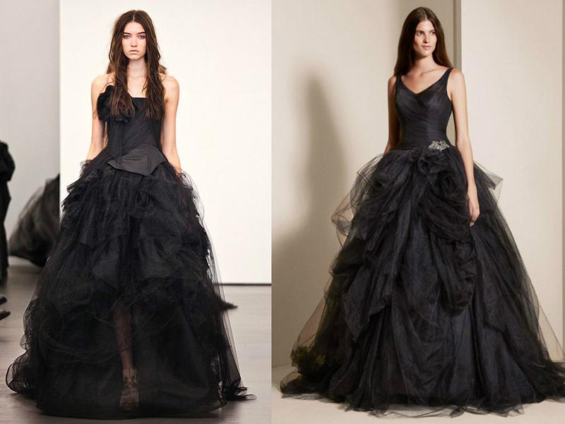 193fa333ea8 Черное свадебное платье — таинственный образ или плохая примета ...