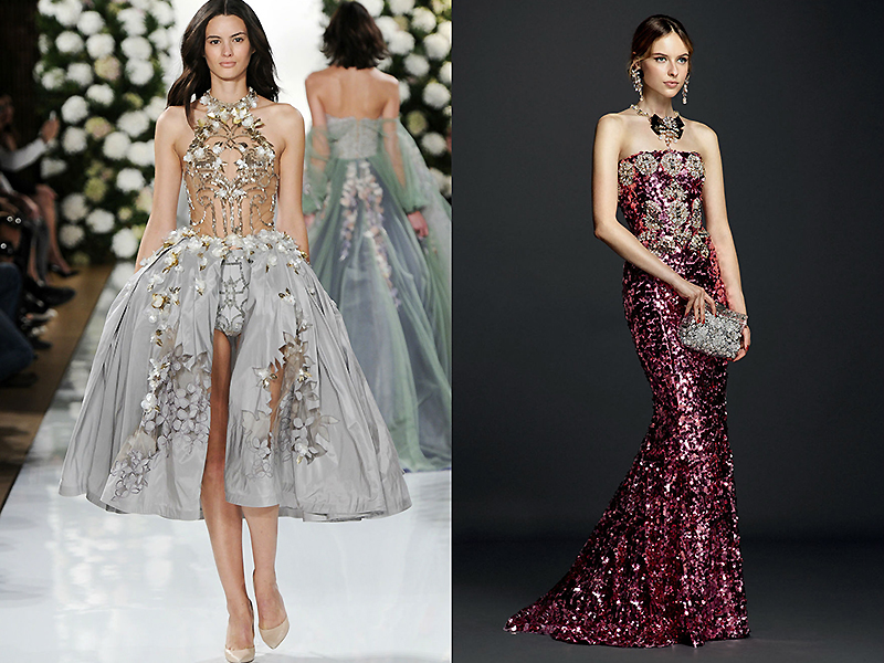 25237962544a43b Оригинальное платье с цветными камнями от Валентина Юдашкина покорит любую  публику. Не менее привлекательно смотрятся модели от Elie Saab, Sherri  Hill, ...