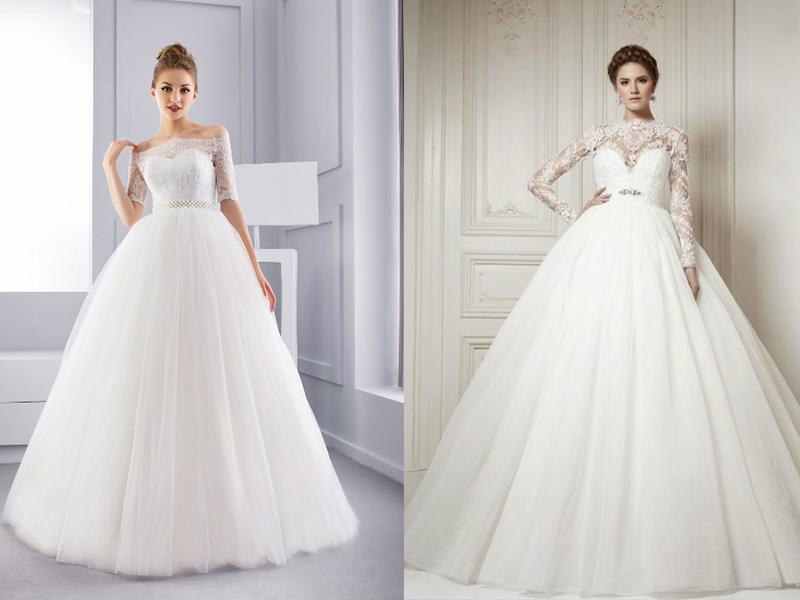 17994d360ed3efd Если свадьба будет проходить в холодное время года, то можно сшить платье с  рукавами. Но тут важно соблюсти баланс: если юбки будут пышными, то рукава  лучше ...