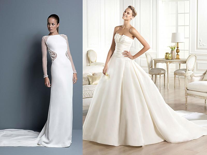 центре какие бывают фасоны свадебных платьев фото дороги