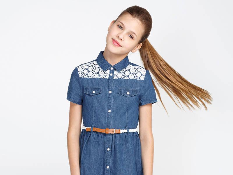 798b4d890d1 Джинсовое платье для девочки — красивая и универсальная вещь