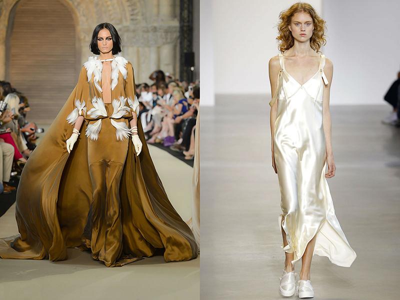 ed6287c6897 Можно увидеть самые разнообразные модели шелковых платьев