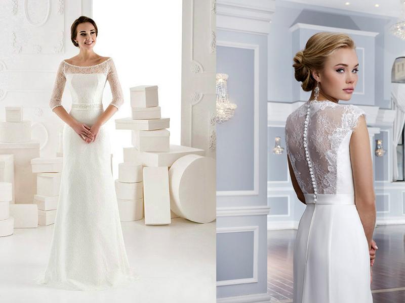 2bbb1f9fcb050e5 Невестам, которые не решаются носить модели с вырезом на спине, можно  посоветовать приобрести модель с кружевом. В таком наряде вместо выреза  присутствует ...