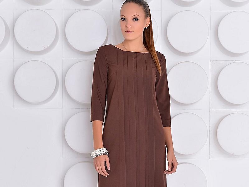 4e26fbeca2e Коричневое платье – выбор не только деловых леди