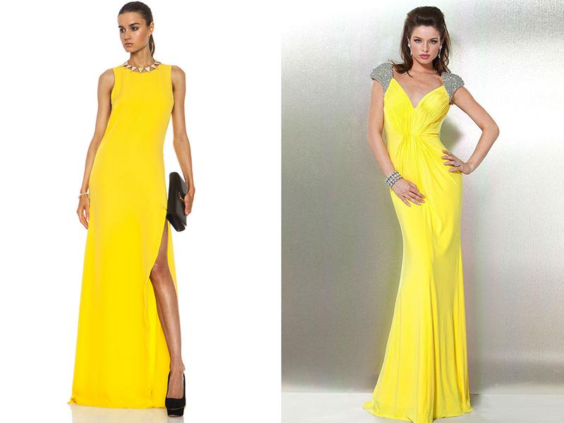 a70e048a8cb Желтое вечернее платье  особенности выбора