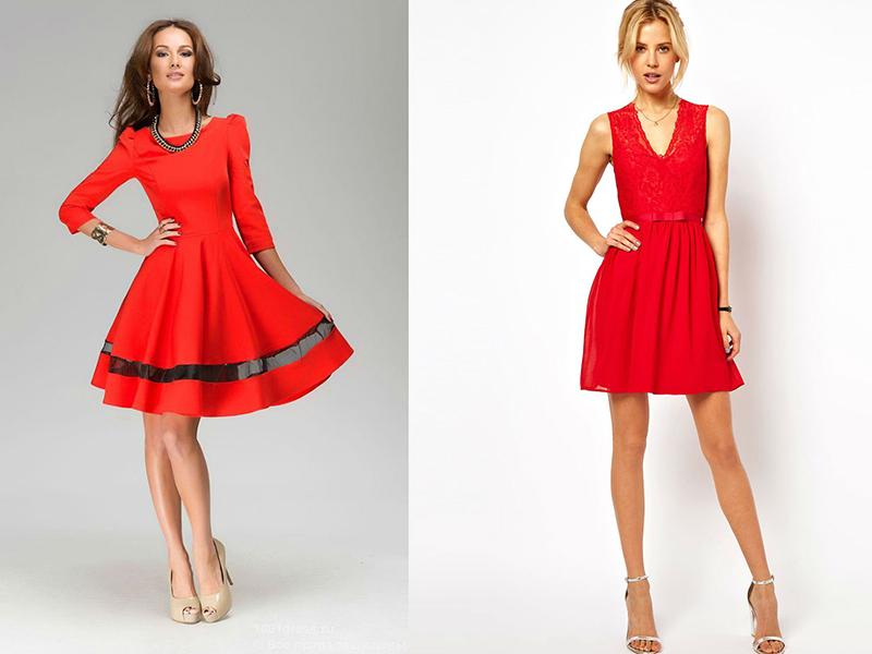 b510644fc16 Колготы к красному платью рекомендуется надевать телесные без блеска и  узоров. Если выбрана черная обувь