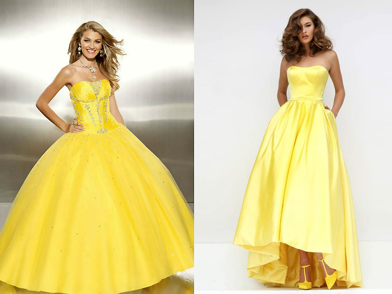 01fe69bfe9c Желтое платье в пол  привлечет взгляды окружающих