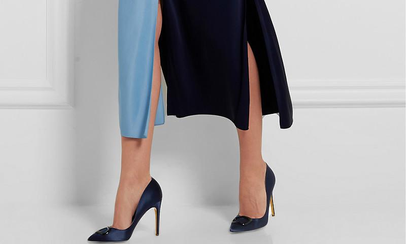 7a9574c3def Модные синие туфли-лодочки (+ 37 фото)