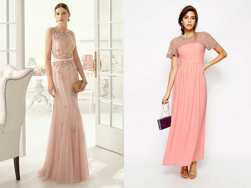 b95eb6e0010 Длинное розовое платье  украсит ваш гардероб