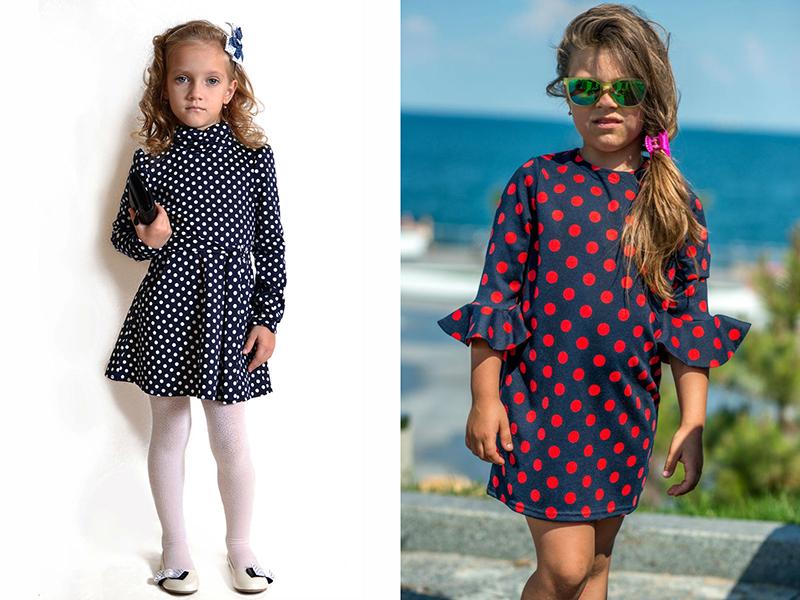 1c7fafaa6ce Платье в горошек для девочек – универсальный наряд для любого ...