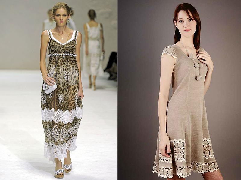 c4f3665a200 Изумительное льняное платье с кружевом представляет собой уникальное  творение и настоящий шедевр дизайнерского искусства. Для декорирования  такого образца ...