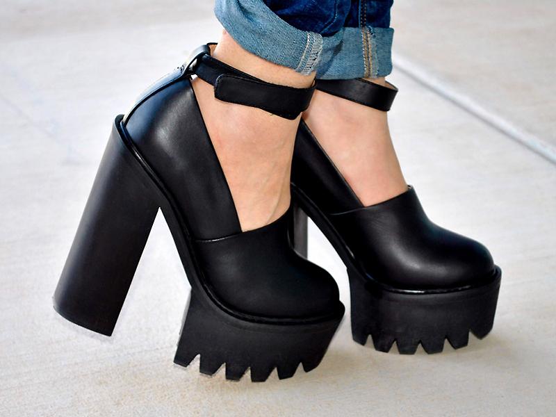 c4b7dd00f Модные туфли на тракторной подошве: как и с чем сочетать | Мода от ...