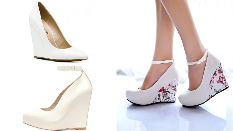 af4bf0af9 Если же требуется модель «на выход», то можно подобрать туфли на более  высокой танкетке, высотой от 7 до 10 см. Такие модели выглядят эффектно, ...