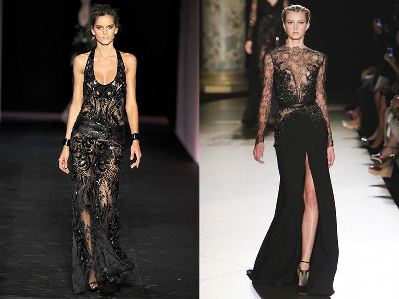 cad6dfd5e20 Вечернее кружевное платье черного цвета отличается особым лоском. Дизайнеры  придумывают фасоны с подкладом
