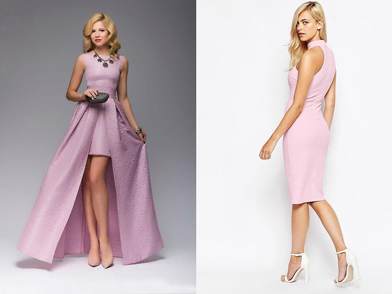 522d216b235 Универсальное решение – бежевые туфли к розовому платью. Если надеть такую  обувь с коротким нарядом