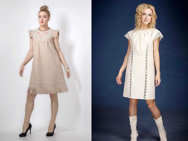 539f96781d6cbea Льняное платье с кружевом – практичность и красота образа | Мода от ...