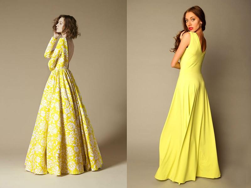 943cc150710 Желтое вечернее платье  особенности выбора