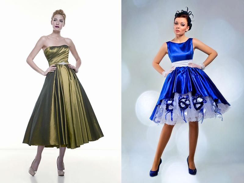 25f12a1469ece69 Отличный выбор наряда на выпускной бал – это атласные платья в стиле  «нью-лук». Этот фасон вошел в моду в середине прошлого века, но он и  сегодня остается ...