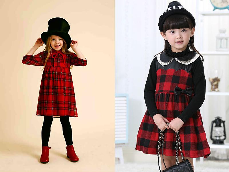 bece8ce3dd6a Чтобы сшить платье в клетку для девочки, стоит выбирать натуральные ткани с  яркой расцветкой.