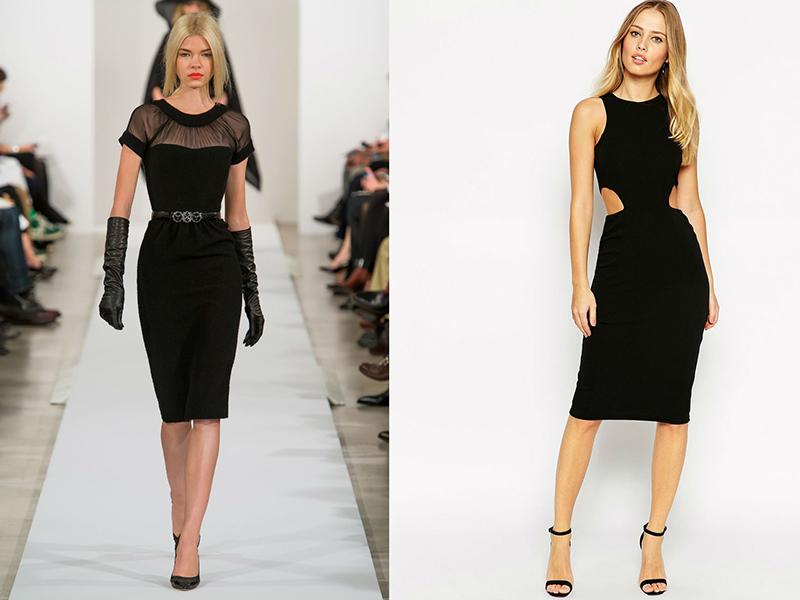 096fb20c44a Универсальное черное платье-футляр