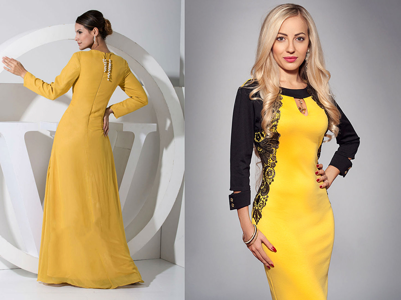 Желтое шелковое платье — главный хит сезона