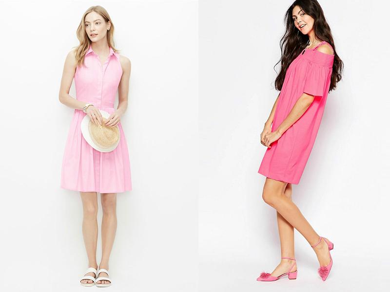 e36ebf2d5a42f64 Удачный выбор для лета – короткое розовое платье-рубашка со сквозной  застежкой. Этот наряд может иметь разную длину. Если платье прикрывает  колени, ...