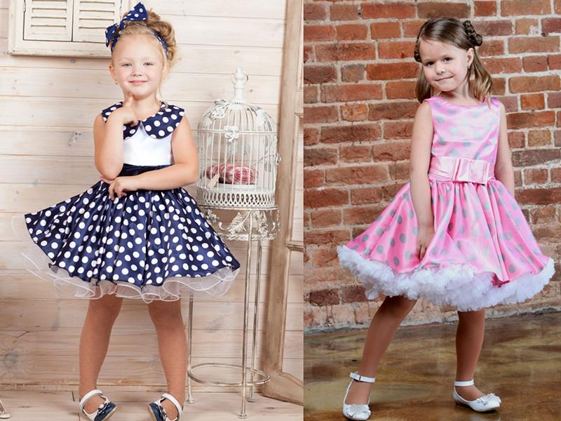 ba95f4ba761 Детские платья в горошек шьют в основном из натуральных материалов  хлопка  или атласа. Первый подходит для повседневных нарядов