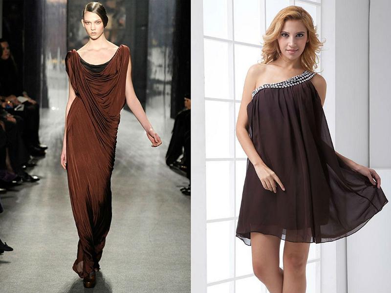 bfd1d90511f Внести изюминку в образ поможет вечернее платье коричневого цвета