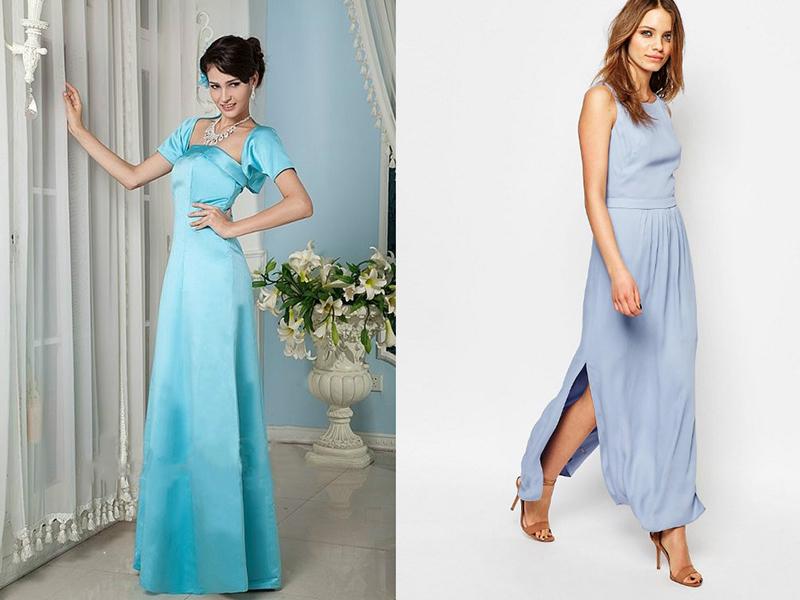80c7256256b Голубое платье в пол – нежность