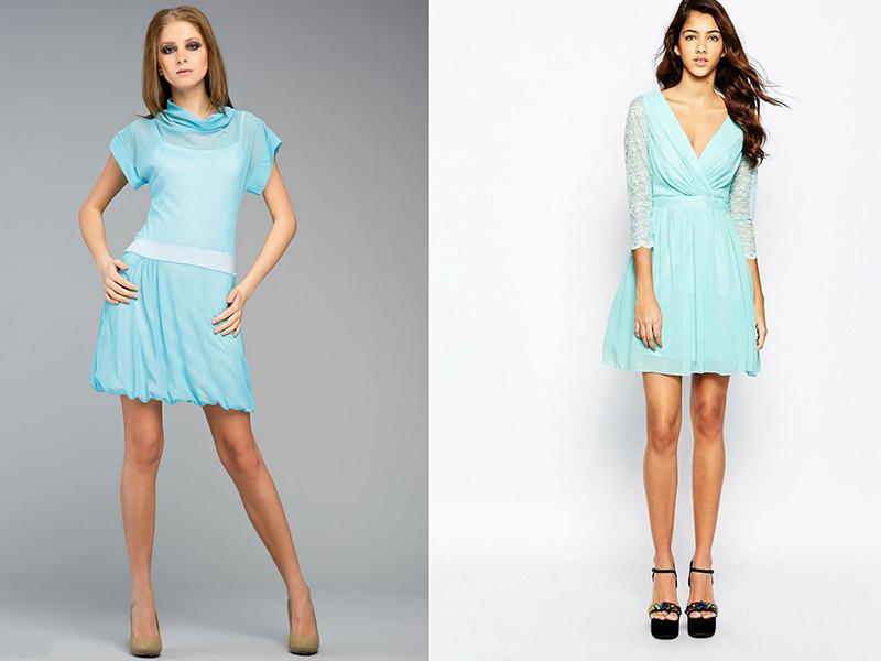 c217ff26053 Короткое голубое платье  выбираем трендовую вещь