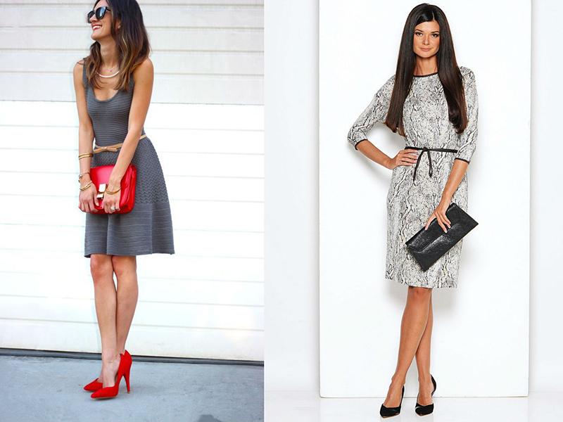 2860cf1f73cb Платья серого цвета позволяют воплотить каждой женщине талант дизайнера,  фантазии и составить восхитительный ансамбль.