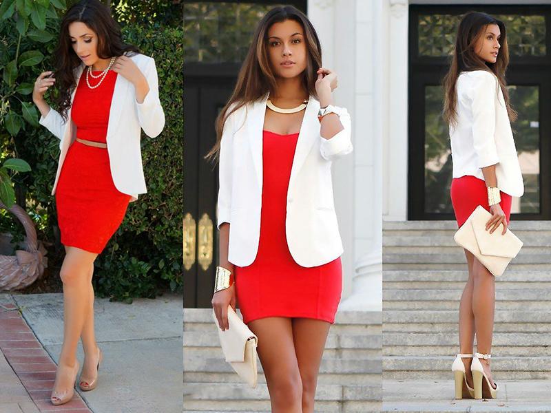 cacd7f333de Универсальное красное платье-футляр