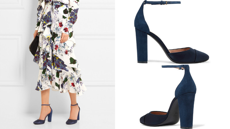 8de920bb8d1 Для повседневной носки лучше приобрести синие туфли-лодочки на низком  каблуке