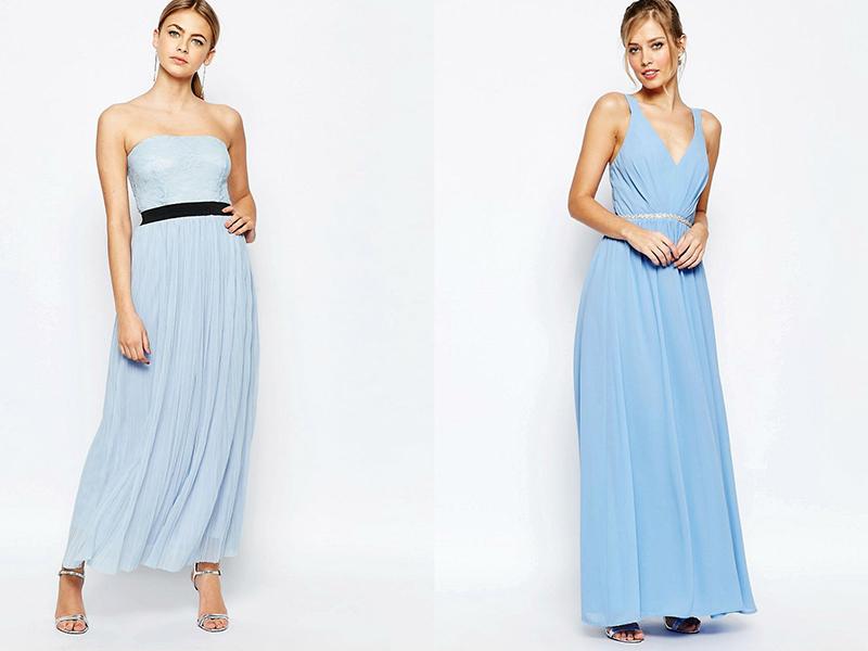 146328b47bc Длинное голубое платье из шелка подчеркнет красивую фигуру и подойдет для  выступления