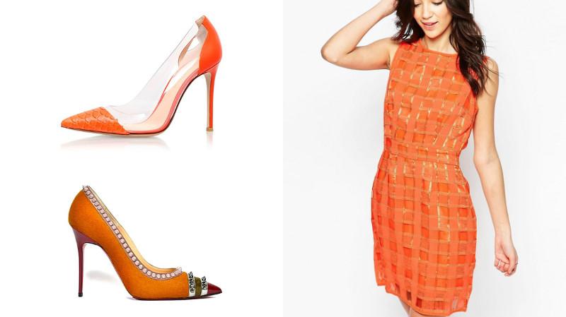 приехали оранжевые туфли с чем носить фото одним