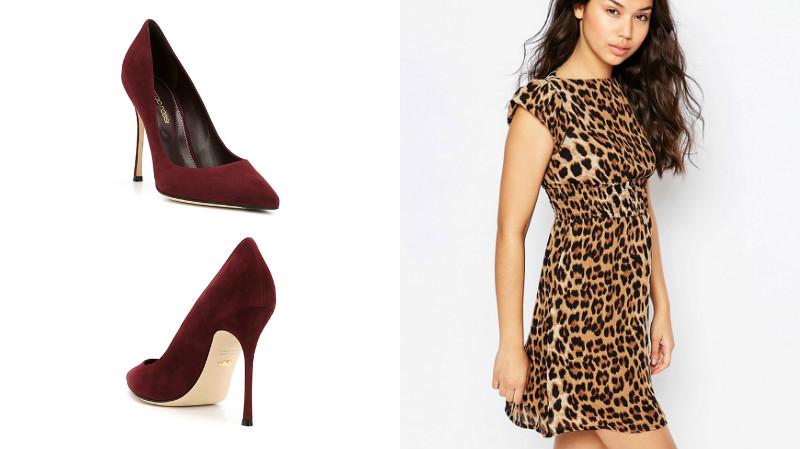 a0e20e7a8ed Рискованным сочетанием является комбинация одежды с леопардовым принтом и красных  туфель. Такой дуэт может выглядеть