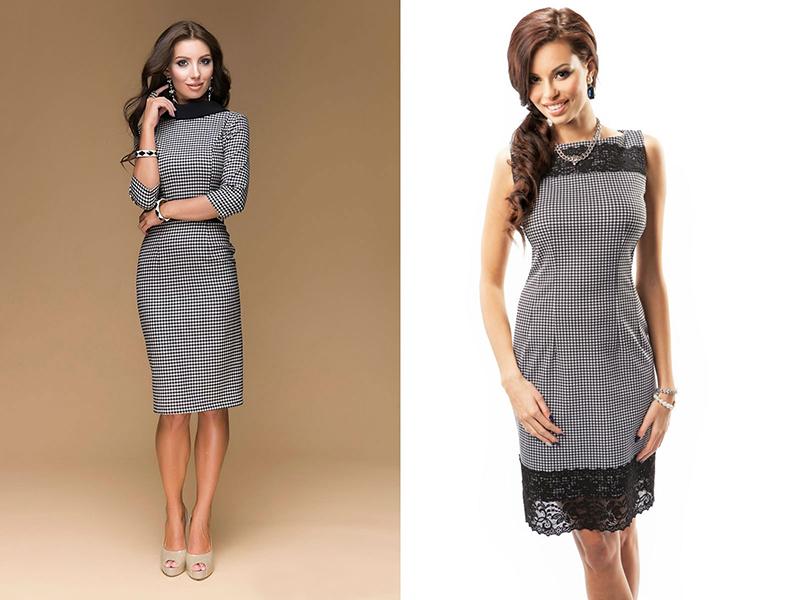 e4015faa857 Платье в клетку  актуальные фасоны и модели