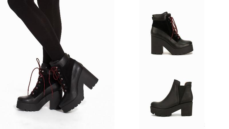 5b8f6e760 Подошва с протектором бывает толстой или едва обозначенной, обувь может  быть с каблуком или на ровной рифленой платформе. Поскольку рифленая подошва  сама по ...