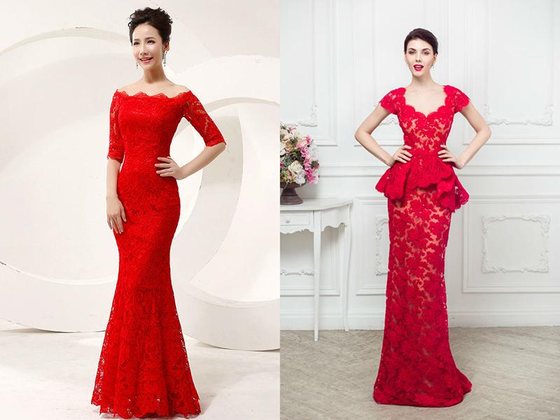 e87f8cd5630 Чарующее красное кружевное платье – образец элегантности и шика ...