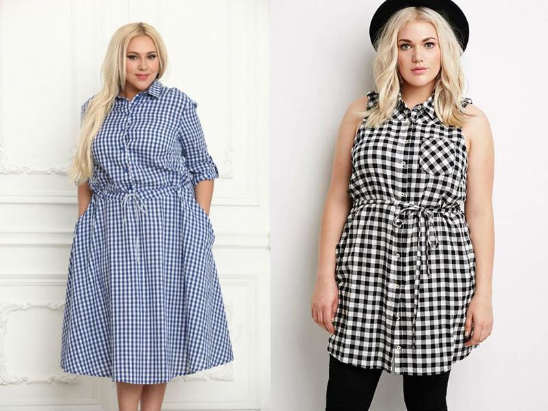 9b77b6ee31b Отличный вариант для свободного времени – удобное платье-рубашка. Такой  наряд особенно хорош для лета. Для пошива стоит использовать легкие ткани с  клеткой ...
