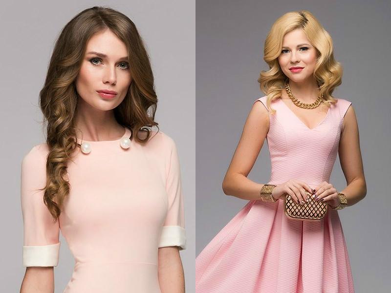 fe999aa92f9 С розовым платьем прекрасно смотрятся украшения из белого или желтого  металла с прозрачными кристаллами. К повседневному платью можно надеть  яркую бижутерию ...