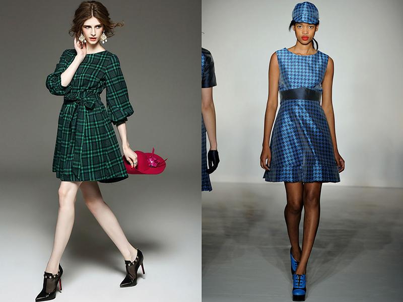 e1ce8e69b2a2009 Платье в клетку: актуальные фасоны и модели | Мода от Кутюр.Ru