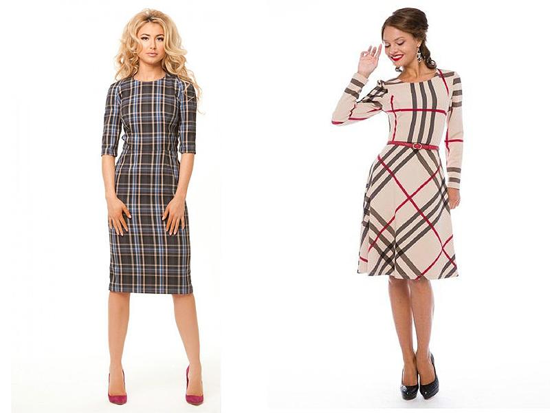 cf2a9969229c21a Классика офисной моды – клетчатое платье-сарафан, которое носят с  водолазкой или блузкой. Модель может иметь полуприлегающий или прямой  силуэт, ...