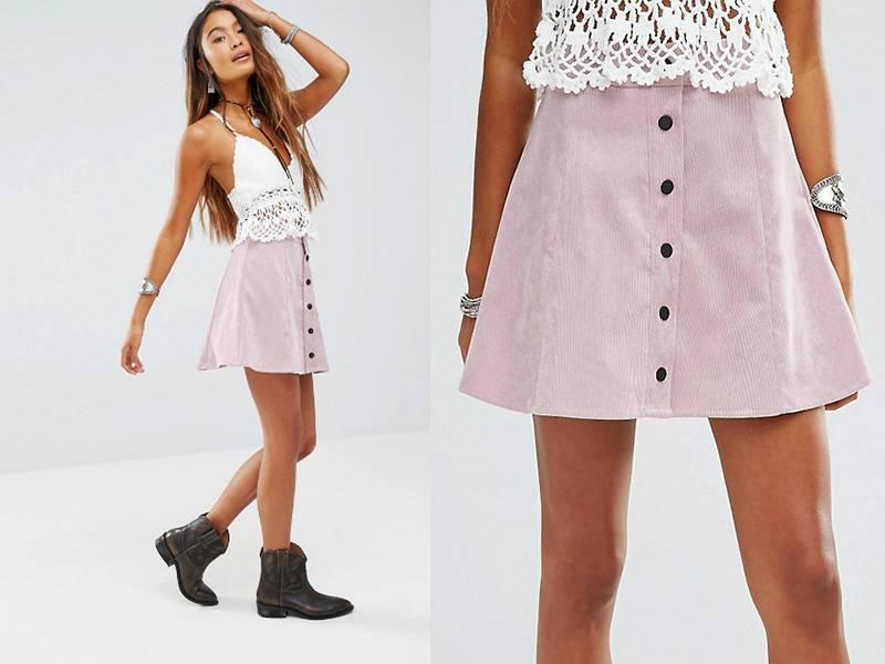Вельветовая юбка карандаш с чем носить